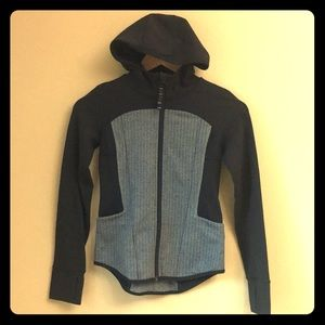 Gently-used Ivivva Herringbone Hooded Jacket
